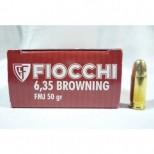 Municion Fiocchi cal 6,35 mm punta blindada