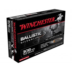 WINCHESTER C/308W 168GR BALLISTIC SILVERTIP
