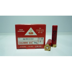 Cartucho GB cal 32 (14mm), 14 grs