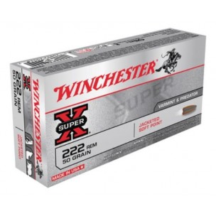 WINCHESTER SUPER X cal 222 REM POINTED SOFT POINT 50 gr