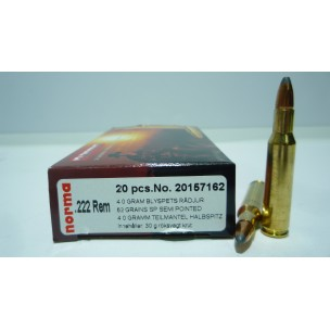 NORMA C/222 Rem SEMIPOINTED 62 gr