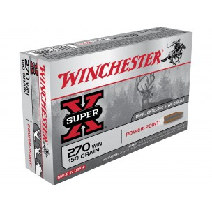 WINCHESTER 270WSM POWER POINT 150grs